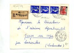 Lettre Recommandée Belfort Sur Muller Marianne Nef - Poststempel (Briefe)