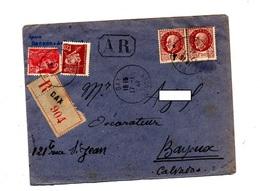 Lettre Recommandée Dax Sur Petain Mercure - Poststempel (Briefe)