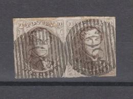 COB 10A En Paire Oblitéré P30 COUVIN - 1858-1862 Medallions (9/12)