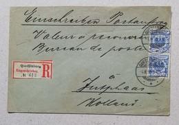 Raccomandata Da Quedlinburg Per Fusphaas (NL) - 04/08/1895 - Deutschland