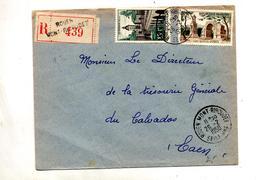 Lettre Recommandée Rouen Sur Remy Quesnoy - Poststempel (Briefe)