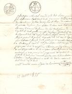 Vieux Papier Du Béarn, Aast, 1818, Michel Naude Fils Dit Lassus Reçoit De Lassus-Daban La Dot De Catherine Tapie - Historische Documenten