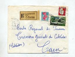 Lettre Recommandée Coutances Sur Cognac - Poststempel (Briefe)