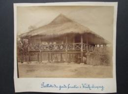 VIETNAM VINH TRUONG Photo C. 1890 Paillotte Du Garde Forestier Chau Doc Chaudoc Indochine Photographie XIX 19e Asie Asia - Photographs
