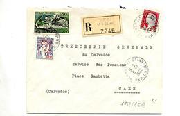 Lettre Recommandée Vernet Les Bains Sur Cognac Decaris Cocteau - Poststempel (Briefe)
