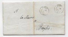 Vp257 Lettre Du Préfet De L'Eure Pour Contribution Exceptionnelle Pour Mairie De Broglie - 1801-1848: Precursori XIX