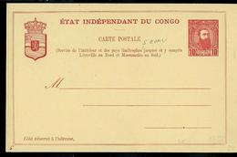 Carte Neuve N° 10 A   10 C Rouge Sur Chamois - Ganzsachen