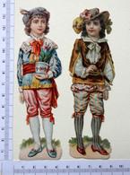 2 CHROMOS DECOUPIS......H 14 Cm.....PERSONNAGES  EN COSTUME HISTORIQUE - Découpis