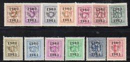 Q151 - BELGIO PREANNULLATI 1960 1961, Cifra Su Leone 13 Valori  *  Linguellati - Préoblitérés