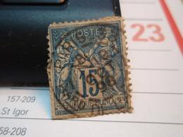 Timbre Sage 15 C Oblitéré. PARIS 33 1898 - 1876-1898 Sage (Type II)
