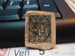 Timbre Sage 15 C Oblitéré. PARIS DEPART 26 Décembre 1895 - 1876-1898 Sage (Type II)