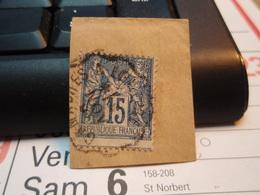 Timbre Sage 15 C Oblitéré. - 1876-1898 Sage (Type II)