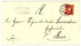 """Nr. 41 B B (breites Format"""" Sehr Schöne EF Dienstsache """"Osnabrück - Buer"""" (heute Melle) - Deutschland"""