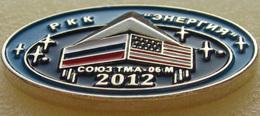 "124 Space Russia Pin. Soyuz TMA-06M. Corporation ""Energia"" Russia-USA - Space"