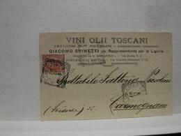 S. MARGHERITA LIGURE  -- GENOVA  --  GIACOMO SPINETTI  -- VINI  OLII TOSCANI - Genova