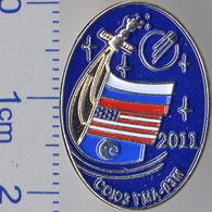 "125 Space Russian Pin. Soyuz TMA-03M. Corporation ""Energia"" Russia-USA-ESA - Space"