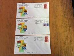 France  Maison-Laffitte 3 Enveloppes Philatéliques Jumelage Newmarke - France