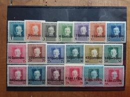 OCCUPAZIONE AUSTRIACA 1918 - Francobolli Austro-ungarici Sovrastampati - Nn. 1/19 Nuovi * + Spese Postali - 8. WW I Occupation