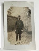 Foto Ak Soldat Francais 11 Regt Art Secteur Postal N 41 1915 - Guerre 1914-18