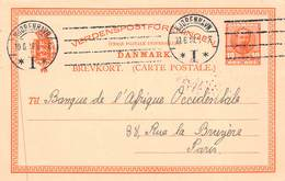 DANEMARK - Entier Postal 10 ORE - Entiers Postaux