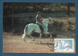 "Portugal  1986   Mi.Nr. 1692 , "" Lusitano "" Calvalos De Raca Portuguesa - Maximum Card - CTT Lisboa 22.05.86 - Tarjetas – Máximo"