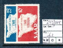 SAAR SARRE YVERT 248/49 MNH - 1947-56 Occupation Alliée