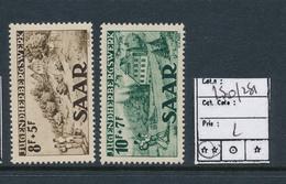 SAAR SARRE YVERT 250/251 MNH - 1947-56 Occupation Alliée