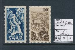 SAAR SARRE YVERT 261/262 MNH - 1947-56 Occupation Alliée
