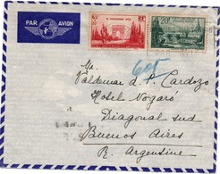 Paris 1938 - Lettre Avion Pour Argentine - Arc De Triomphe Armistice & Saint-Malo - Postmark Collection (Covers)