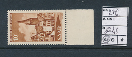 SAAR SARRE YVERT 276 MNH - 1947-56 Occupation Alliée