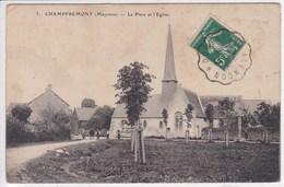 53 CHAMPFREMONT La Place,timbre à Date Des Convoyeurs De Ligne,marcophilie , Melle Chastellier Modiste Pré En Pail - Other Municipalities