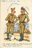 -ref-B905- Guerre 1939-45 - Humoristiques - Illustrateur - Croque Mort Et Hitler - Illustrateurs - Miitaires - - Guerra 1939-45