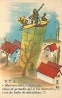 -ref-B903- Guerre 1939-45 - Humoristiques - Illustrateur - D C A Et Balles De Mitrailleuse - Comique Militaire N° 154 - - Guerra 1939-45