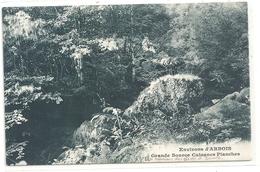 .ENVIRONS D'ARBOIS . GRANDE SOURCE CUISANCE PLANCHES . JOLIE CARTE AFFR AU VERSO EN 1912 . 2 SCANES - Arbois
