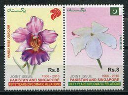 Pakistan 2016 / Flowers Joint Issue Singapore MNH Flores Emision Conjunta Singapur Blumen Fleurs / Cu6928  31-14 - Vegetales
