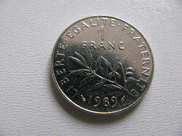 France : 1 Franc 1989    - Prix : 4,90 €  Très Bel état - France
