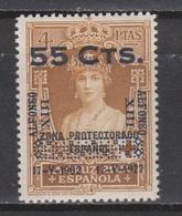 1927 ALFONSO XIII CORONACIÓN 55 Cts Sobre 4 Pts*. MARRUECOS. MUY RARO. - 1931-Aujourd'hui: II. République - ....Juan Carlos I