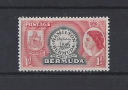 "BERMUDA.....QUEEN ELIZABETH II.(1952-NOW).."" 1953..""...1d........SG136a...........MH.. - Bermudes"