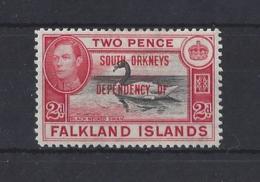 """FALKLAND DEPS...."""" SOUTH ORKNEYS..""""...KING GEORGE VI.(1936-52)....2d.....SGC3.......MH.. - Falkland Islands"""