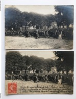 2x Foto Ak 24 Canons Allemands Exposed Belfort Capture General Pau Photo Eugere Belfort - Guerre 1914-18