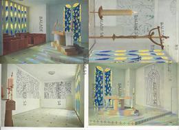 5 CPM - Chapelle Du Rosaire à VENCE (06) Réalisée Par Henri Matisse, Jeux De Lumière, Crucifix De L'autel....étude Pour - Vence