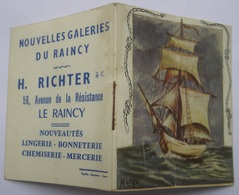 NOUVELLES GALERIES DU RAINCY Calendrier De Poche 1963 - H. RICHTER 56 Av. De La Résistance Le Raincy 93 - Calendarios