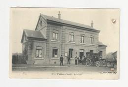 59 TRELON - La Gare Animée - Cpa Nord - Other Municipalities