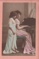 OLD PHOTO POSTCARD - CHILDREN - GIRL  -  MODEL GRETE REINWALD -   PIANO - Portraits