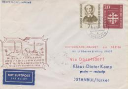 Erstflug  Deutschland - Nahost Am 15.9.56 Nach Istanbul  Mit Bund  Michel #  222 + 236 - Altri