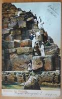 Mounting The Pyramid Ägypten Egypte Hebron 1905 Gelauen Nach Stein An Der Donau - Pyramiden