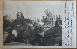 4 Aegyptian Marktscene Ägypten Egypt Frau Mit Kind Auf Esel  Gelaufen Von Hilwan Nach Stein Ander Donau 1905 - Personen