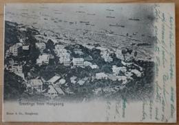 Hongkong Greetings From Shanghai Kruse & Co. 1910 Gelaufen Nach Stein An Der Donau RARE SMALL SIZE - China (Hong Kong)