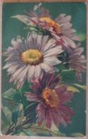 Blumen Blumenstrauss  Kunst Künstler Feldpost 1916 Ballonabteilung 10 Wenau Postkarte - Blumen