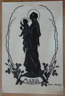 Maria Mit Kind Madonna Jesus Christus Scherenschnitt Schattenbild Schattenriss Schwarzbild Silhouette - Scherenschnitt - Silhouette